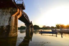 Die Brücke des Flusses Kwai in Thailand Lizenzfreie Stockfotografie