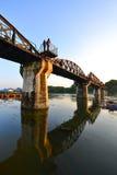 Die Brücke des Flusses Kwai in Thailand Stockbild