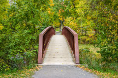 Die Brücke herüber Stockbild