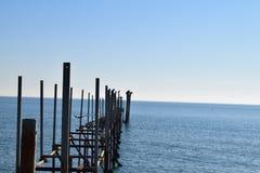 Die Brücke im Blau Lizenzfreie Stockfotos
