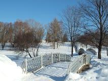 Die Brücke im Park Stockfoto