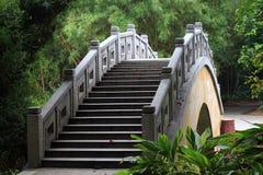 Die Brücke im Wald Lizenzfreies Stockfoto