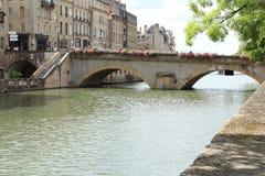 Die Brücke in Metz, Frankreich lizenzfreie stockfotos