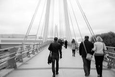 Die Brücke morgens Stockbild