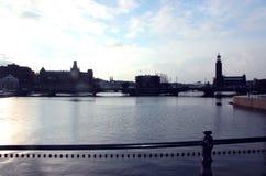 Die Brücke in Stockholm, Schweden 2016 lizenzfreies stockfoto