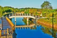 Die Brücke und das umgekehrte Bild Stockbilder