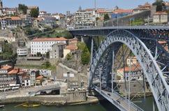 Die Brücke von Dom Luiz Stockbild