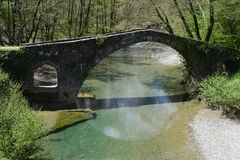 Die Brücke von Kamberaga, 18. Jahrhundert Stockbilder
