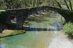 Die Brücke von Kamberaga, 18. Jahrhundert Lizenzfreie Stockfotos