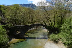 Die Brücke von Kamberaga, 18. Jahrhundert Lizenzfreies Stockfoto