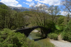 Die Brücke von Kamberaga, 18. Jahrhundert Lizenzfreies Stockbild