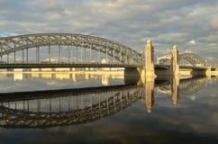 Die Brücke von Peter der Große Stockbild