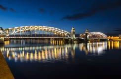Die Brücke von Peter The Great (Bolsheokhtinsky), St Petersburg, Stockfoto