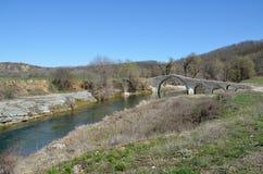 Die Brücke von Pramortsa in Kozani, Griechenland Lizenzfreie Stockfotos