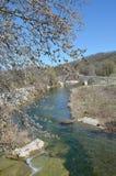 Die Brücke von Pramortsa in Kozani, Griechenland Lizenzfreies Stockbild