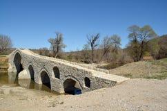 Die Brücke von Pramortsa in Kozani, Griechenland Lizenzfreie Stockfotografie