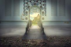 Die Brücke zum Himmelhimmel oder -feiertag Stockbild