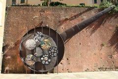Die Bratpfanne für das Fischfestival von Camogli Stockfoto
