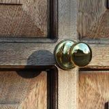 Die braune Tür Stockbild