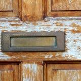 Die braune Tür Lizenzfreie Stockfotos
