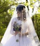 Die Braut ist geschlossener Schleier Lizenzfreies Stockfoto