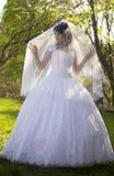 Die Braut ist geschlossener Schleier Stockfotos