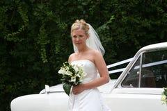 Die Braut kommt an stockfoto
