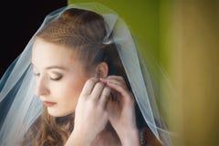 Die Braut trägt Schmuckfrau Stockbilder