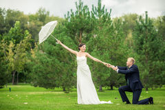 Die Braut und der Bräutigam Lizenzfreie Stockbilder