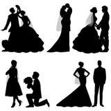 Die Braut und der Bräutigam set Lizenzfreie Stockbilder
