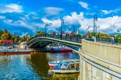 Die Brücke 2 des Liebhabers Stockfotografie
