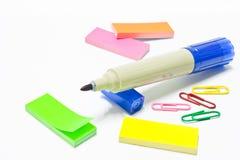 Die brigth Farben verwendet für Briefpapierzubehör Lizenzfreie Stockbilder