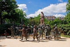 Die Bronzeskulpturen der Nachtuhr Lizenzfreie Stockfotografie