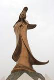Die Bronzestatue der Göttin Kun Iam, eine buddhistische Gottheit der Gnade, stockfotos