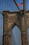 Die Brooklyn-Brücke lizenzfreies stockbild