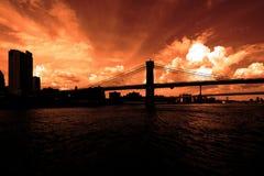 Die Brooklyn-Brücke New York USA Stockbild