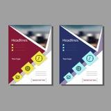 Die Broschüre für den Bericht, eine Abdeckungsbroschüre, Darstellung, Flieger Flacher geometrischer abstrakter Hintergrund Stockfotografie