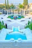 Die Brunnen in Bahai-Gärten Stockfotografie