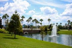 Die Brunnen, blaues Grün-Erholungsort, Orlando, Florida Lizenzfreie Stockfotografie