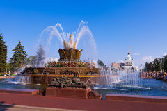 Die Brunnen Steinblume in Moskau Stockfotos