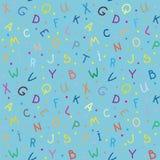 Die Buchstaben Nahtlose Beschaffenheit Lizenzfreies Stockfoto