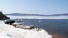 Die Bucht von Nagaev/von Frühling Stockfoto