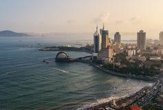 Die Bucht von Qingdao stockbilder