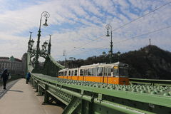 Die Budapest-Tram Stockbilder