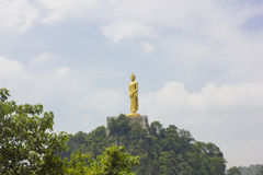Buddha-Statue auf Berg lizenzfreie stockfotos