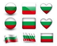 Die bulgarische Markierungsfahne Stockbild