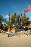 Die Bungalows sind auf Strand in Koh Lipe-Insel Lizenzfreie Stockbilder