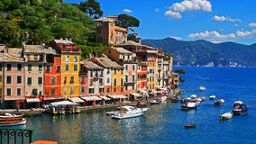 Die bunte Küste in Portofino, Italien lizenzfreies stockfoto