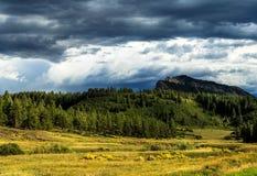 Die bunten Colorado-Berge im Herbst stockbild