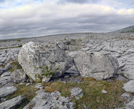 Die Burren Fluss-Steine Stockfotos